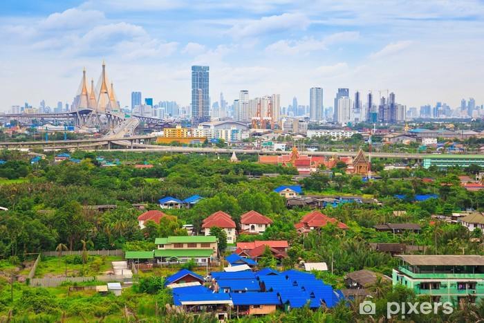 Nálepka Pixerstick Pohled na město Bangkok Thajsko - Asie
