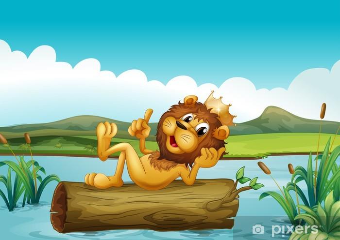 e1379629e55ce Papier peint Un tronc d'un roi lion • Pixers® - Nous vivons pour changer