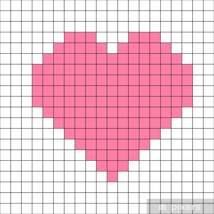 Aufkleber Kreuzstich Herz Muster Vektor Pixers Wir Leben Um Zu