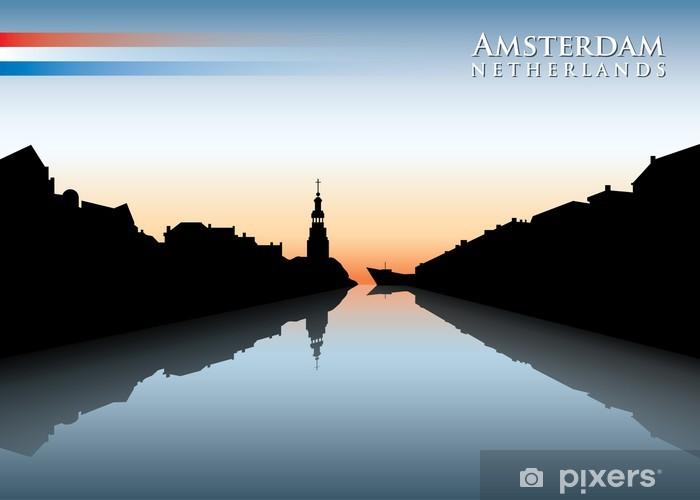 Sticker Pixerstick Amsterdam Skyline - Villes européennes