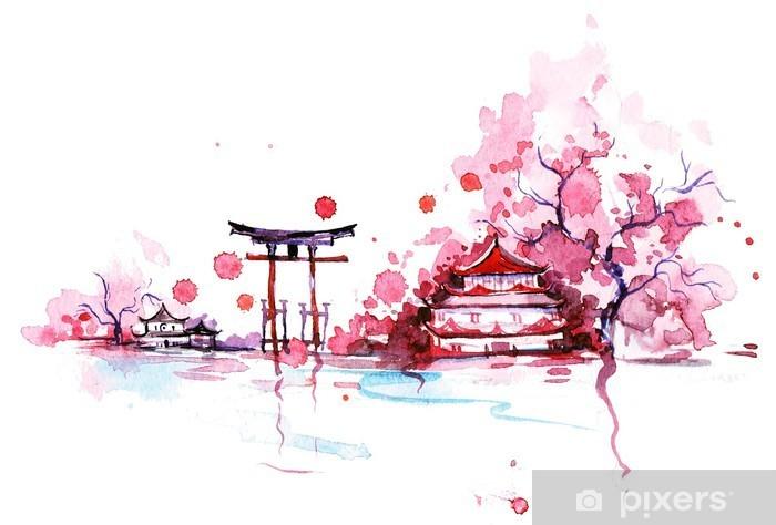 Carta da Parati in Vinile Giappone - Viaggio
