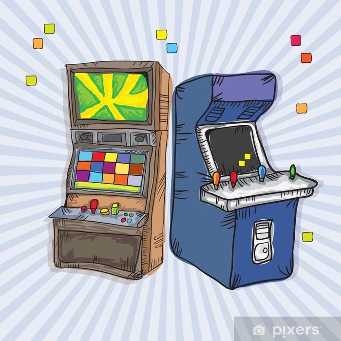 Video Games Icons Sticker - Pixerstick