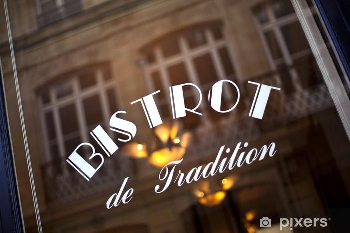 Papier peint vinyle Café, bar, bistrot, restaurant, vitrine, français, rétro, France - iStaging