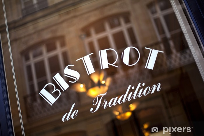 Kahvila, baari, bistro, ravintola, vitrine, français, rétro, ranska Vinyyli valokuvatapetti - iStaging