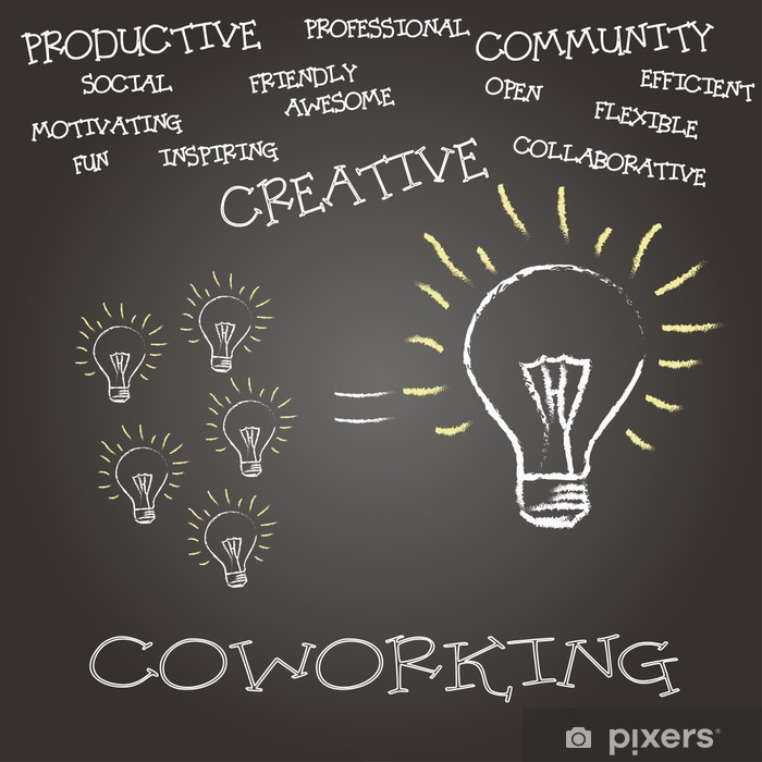 concepto coworking Poster - Business Concepts