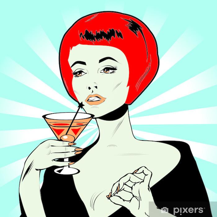 Plakat Martini Toast - Retro Clip Art - Kobiety