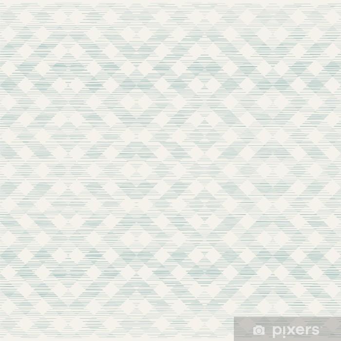 Sticker Pixerstick Rétro fond abstrait géométrique avec texture de tissu - Arrière plans