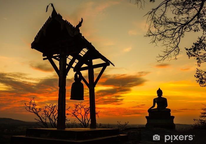 Sunset old Temple wat Praputtachai at Saraburi, Thailand Pixerstick Sticker - Themes