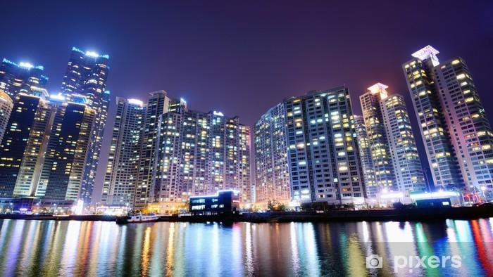 Naklejka Pixerstick Busan, Korea Południowa Miasta - Azja
