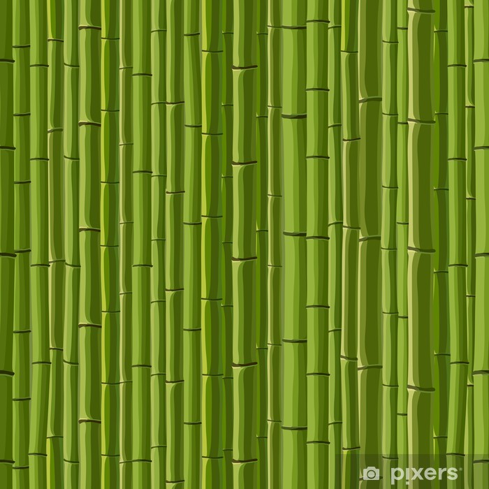 Seamless background of green wall bamboo  Wall Mural - Vinyl
