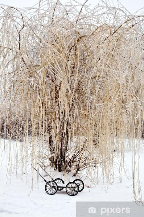 Vinyl-Fototapete Nach dem Winter Einfrieren regen - Jahreszeiten