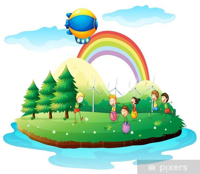 Aufkleber Kinder Spielen Im Boden Pixers Wir Leben Um Zu Verandern