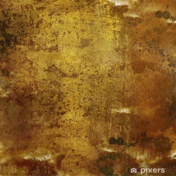 Fond grunge doré Vinyl Wall Mural - Backgrounds