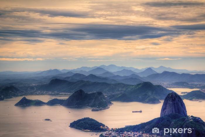 View on Sugarloaf Mountain in Rio de Janeiro Vinyl Wall Mural - Brazil