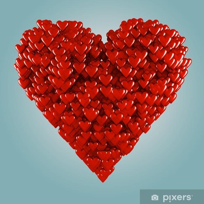 Papier peint vinyle Coeur - Bonheur