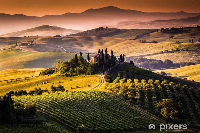 Pixerstick Sticker Landschap, Toscane - Italië - Thema's