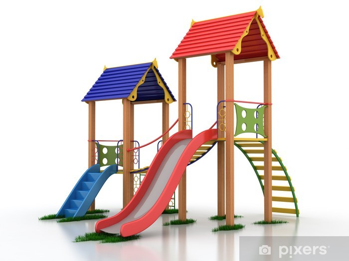 Fototapeta winylowa Plac zabaw dla dzieci - Budynki prywatne