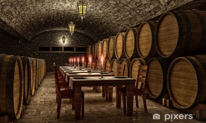 Fototapeta winylowa Weinkeller 3d wnętrza - Zabytki