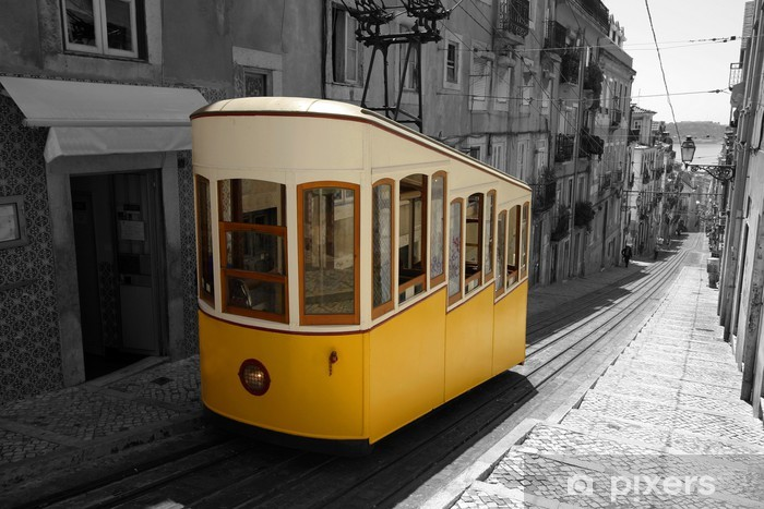 Lisbon Tram Pixerstick Sticker - European Cities