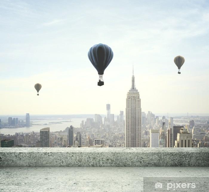 Vinyl Fotobehang Luchtballon op hemel - Thema's