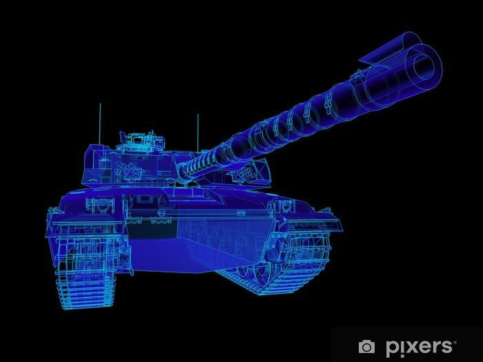 Fototapeta winylowa Ilustracja techniczna Challenger czołg. - Czołgi