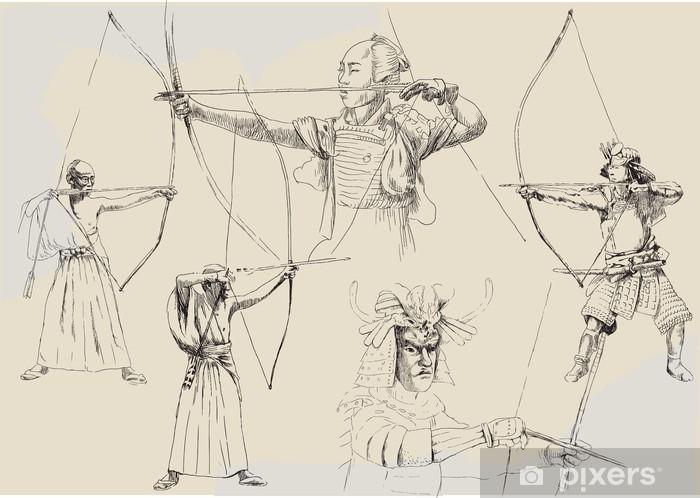 Papier Peint Dessins A La Main Collection Samourai Pixers Nous Vivons Pour Changer