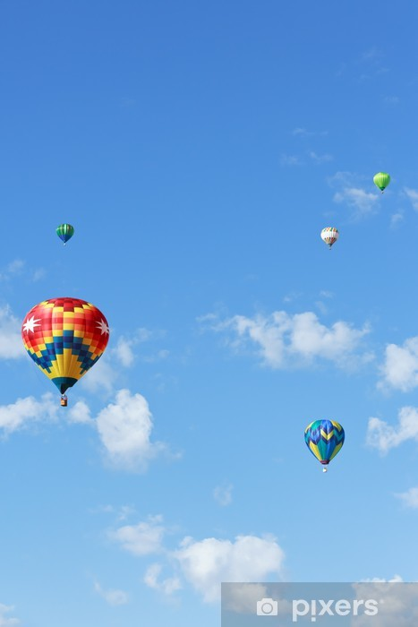 Naklejka Pixerstick Balonów na ogrzane powietrze - Transport powietrzny