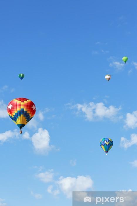 Sticker Pixerstick Balloons hot air - Dans les airs