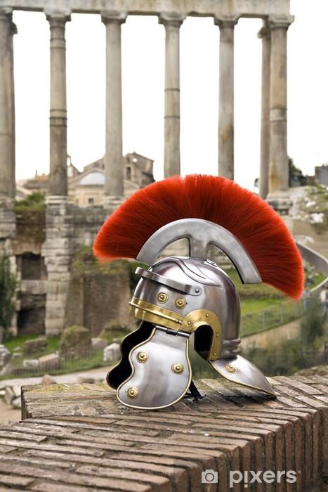Aufkleber Römischer Soldat Helm Vor Dem Fori Imperiali Rom Italien Pixerstick