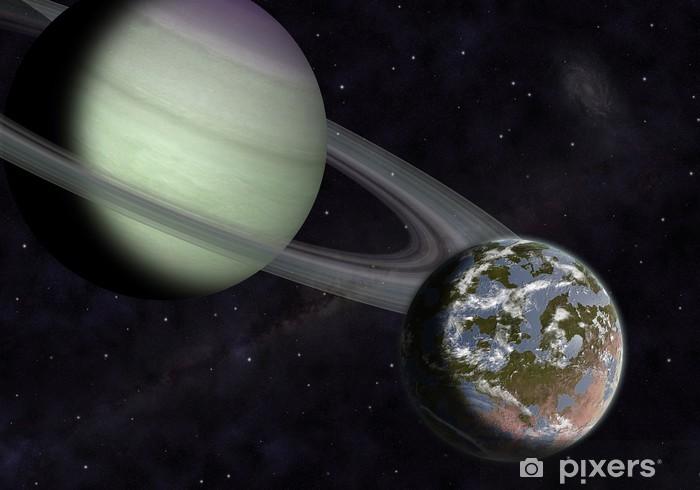 Papier peint vinyle Exoplanète et exolune - Espace