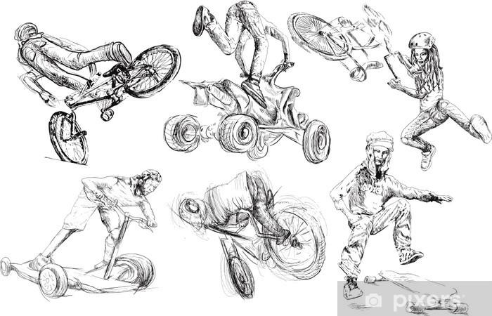 Naklejka Pixerstick Letnie rozrywki - Sporty indywidualne