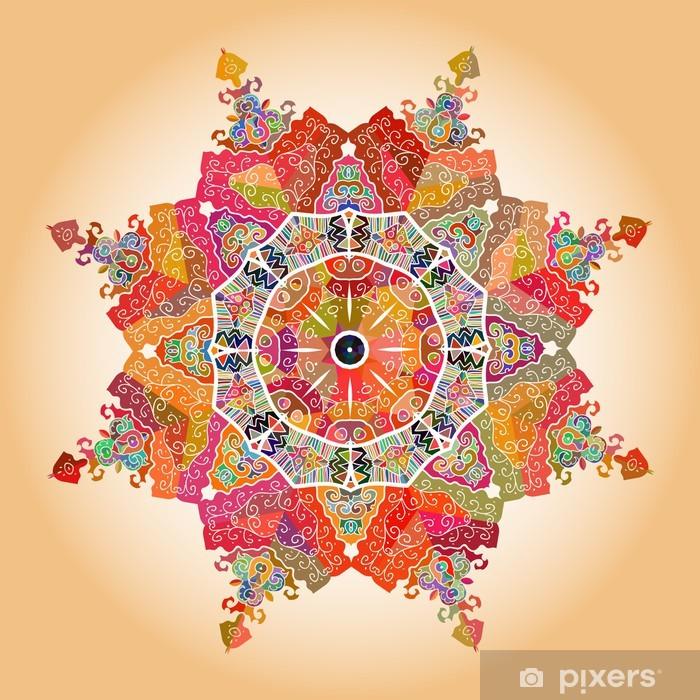 Ingelijste Poster Oosterse mandala motief -