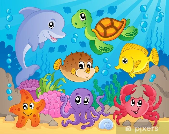 Papier peint vinyle Coral image récif thème 5 - Thèmes