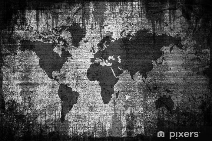 Nálepka Pixerstick Výstřední mapa světa - Doplňky a věci