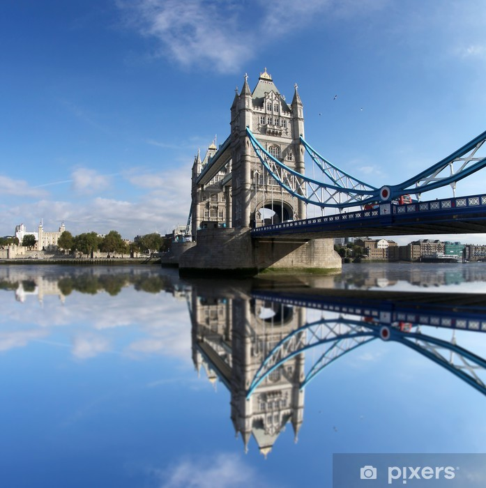 Famous Tower Bridge in London, England Vinyl Wall Mural - Themes