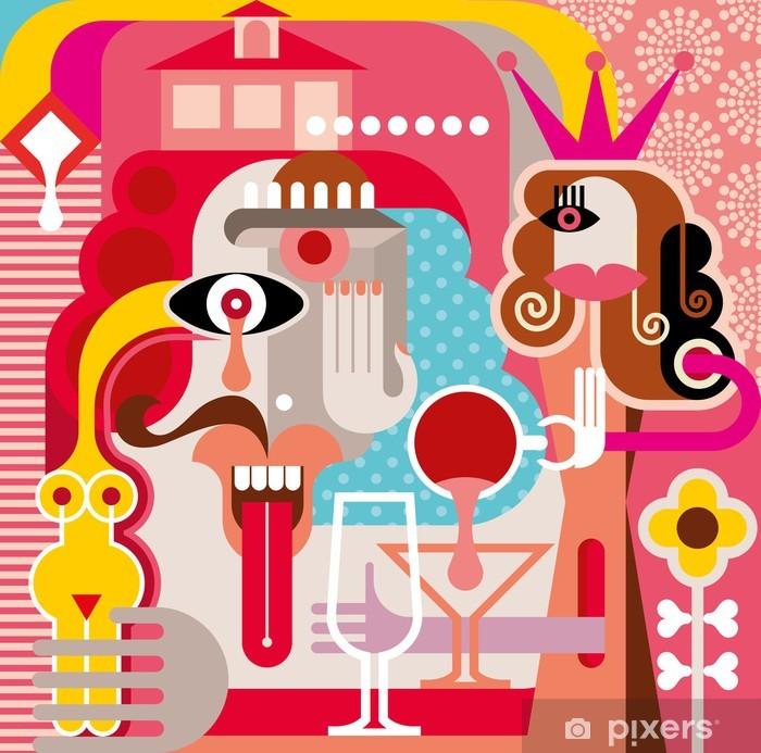 Woman and Man vector illustration Self-Adhesive Wall Mural - Art and Creation