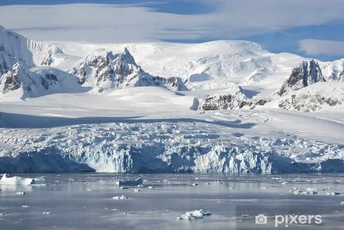 Naklejka Pixerstick Lodowce na wybrzeżu zachodniej Półwyspu Antarktycznego, jak - Biegun Północny i Południowy