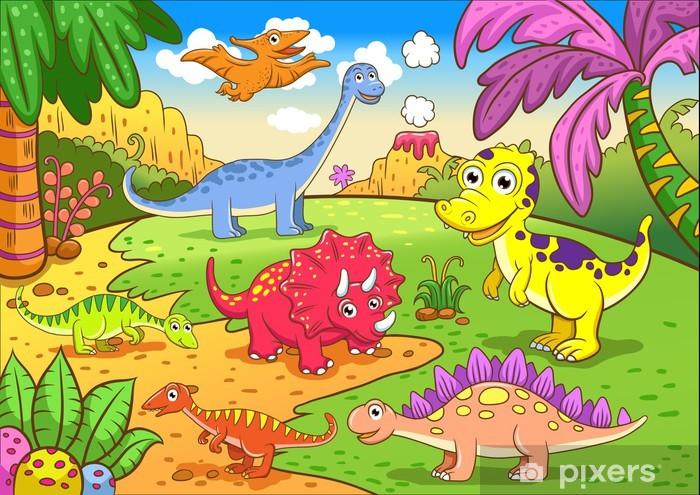Vinilo Pixerstick Dinosaurios Lindos En Escena Prehistorica Pixers Vivimos Para Cambiar Qué son los dinosaurios, características principales, hábitat, tipos y extinción de los dinosaurios. vinilo pixerstick dinosaurios lindos en escena prehistorica pixers vivimos para cambiar