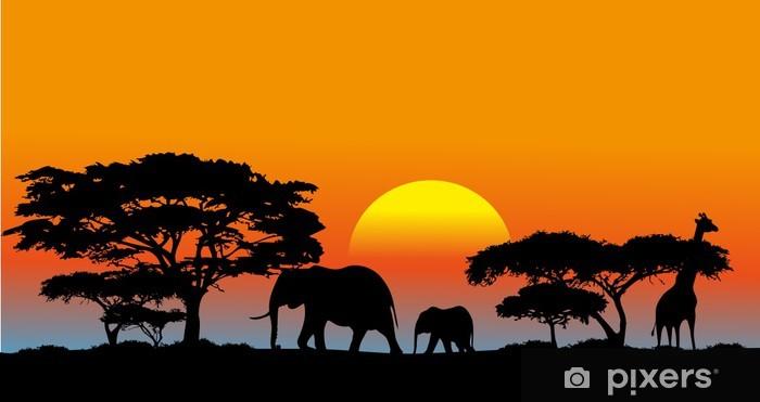 Fototapeta winylowa Afrykańska sawanna - Tematy