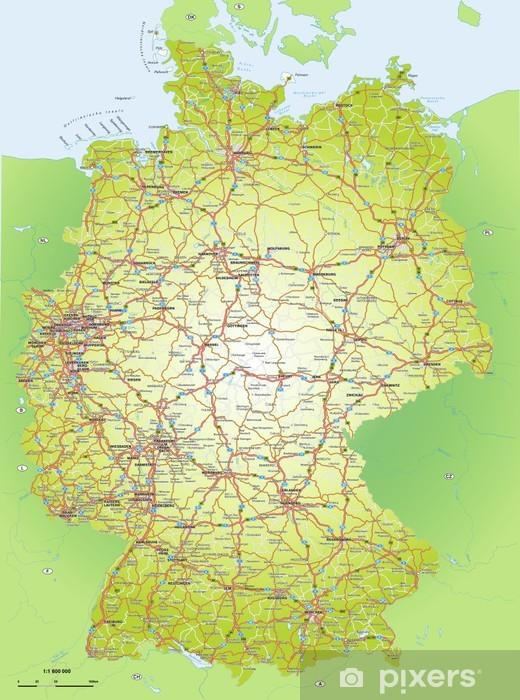 Deutschlandkarte 1 1 6 Mio Wall Mural Pixers We Live To Change