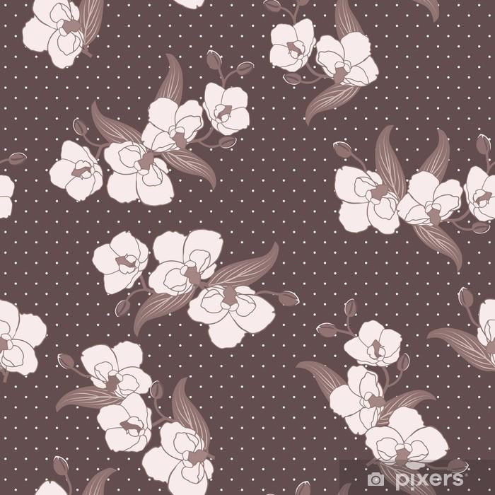 Plakat Bez szwu tapety z kwiatów orchidei - Kwiaty
