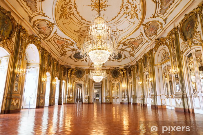 Kendinden Yapışkanlı Duvar Resmi Queluz Ulusal Sarayı, Portekiz Balo -