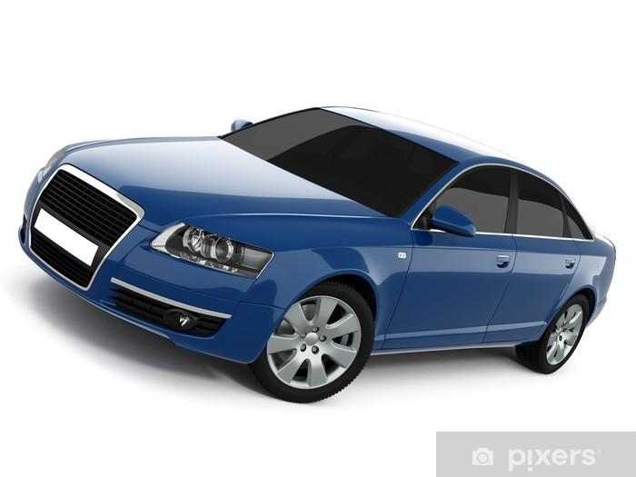 Naklejka Pixerstick Niebieski samochód klasy biznes - Tematy