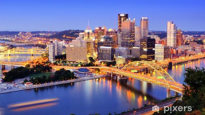 Carta da Parati in Vinile Pittsburgh, Pennsylvania orizzonte - Temi