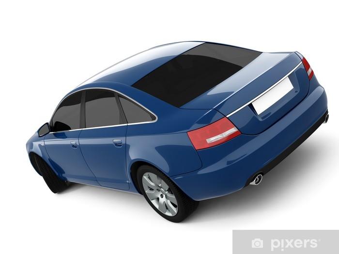 Fototapeta winylowa Niebieski samochód klasy biznes - Tematy