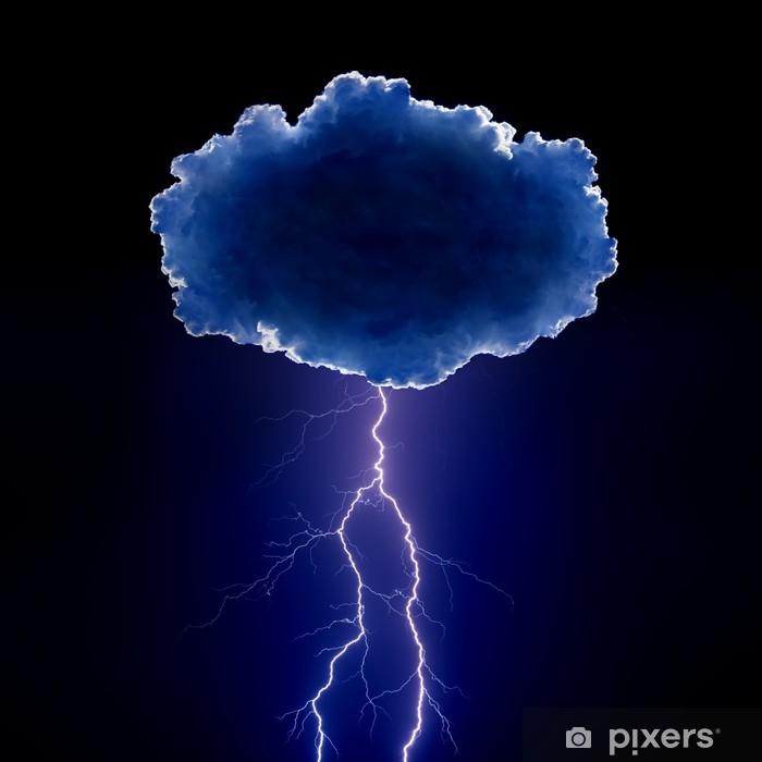 Fotomural Estándar Nube con relámpagos - Desastres naturales