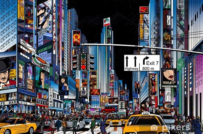 street in New York city Pixerstick Sticker -