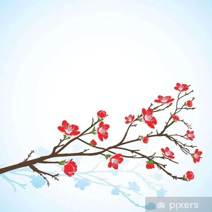 Ilkbahar Ağacı çiçekleri Ile Arka Plan Duvar Resmi Pixers Haydi
