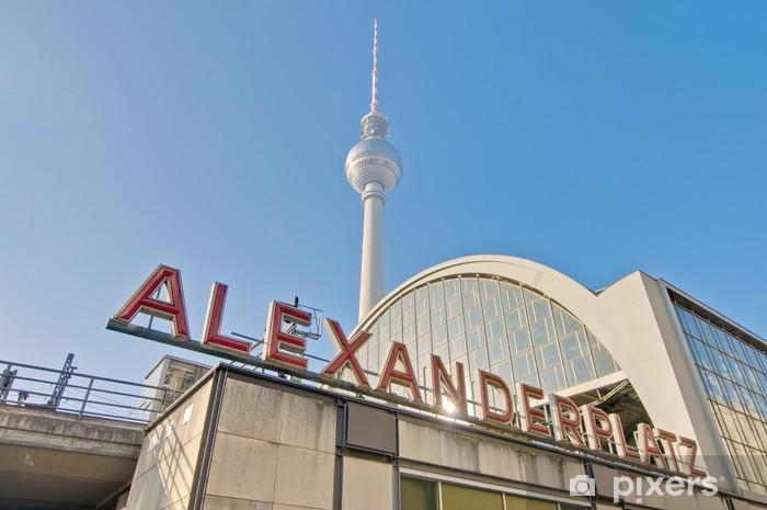 Vinylová fototapeta Alexanderplatz, v centrální čtvrti Mitte v Berlíně. - Vinylová fototapeta