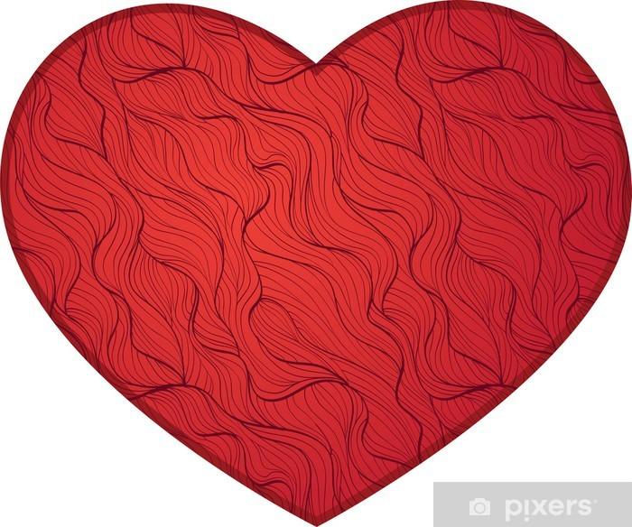 Plakat Czerwone serce - Znaki i symbole